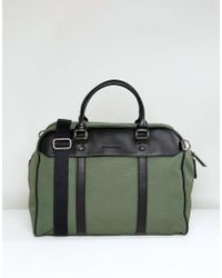 Smith & Canova - Nylon And Leather Holdall - Lyst