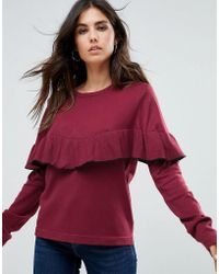 Liquorish - Jumper With Ruffle Trim - Lyst