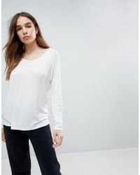 Many Kinds Of Cheap Online DESIGN top with batwing long sleeve in white - White Asos Cheap Sale New Cheap Sneakernews Sale Excellent fuznbk1y7