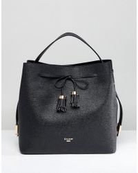 Dune - Slouchy Tote Bag With Tassel Fastening - Lyst