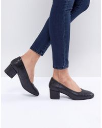 SELECTED - Heeled Court Shoe - Lyst