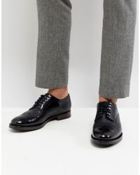 Ted Baker - Senape Leather Brogue Shoes In Black - Lyst