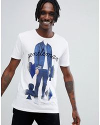 Antony Morato - T-shirt In White With Gentleman Print - Lyst