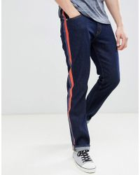 Calvin Klein - Straight Jeans With Side Stripes - Lyst