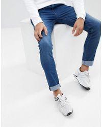2d0a8f88054a6 Threadbare Skinny Fit Biker Jeans In Grey Wash in Gray for Men - Lyst