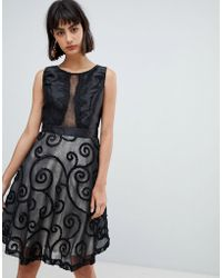 Amy Lynn - Prom Dress With Brocade Detail - Lyst