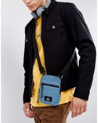 ASOS - Flight Bag In Blue Fleece - Lyst