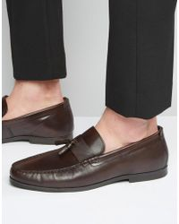Red Tape - Tassel Loafers In Brown Leather - Brown - Lyst