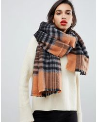 French Connection - Check Scarf - Lyst