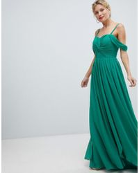 18271119b05 Y.A.S - Floaty Maxi Dress With Cold Shoulder - Lyst