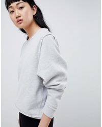 SELECTED - Femme Sweatshirt With Raw Seams - Lyst