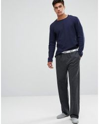 ASOS | Straight Leg Jersey Pyjama Bottom With Branded Waistband | Lyst