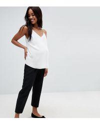 ASOS - Asos Design Maternity Elasticated Clean Tapered Trouser - Lyst