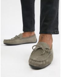 KG by Kurt Geiger - Kg By Kurt Geiger Wide Fit Driving Shoes In Grey Suede - Lyst