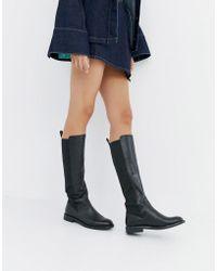 Vagabond - Amina Black Leather Knee High Boots - Lyst