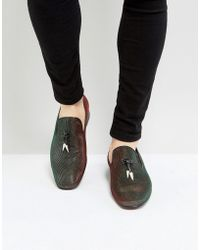 Jeffery West - Jung Iridescent Loafers In Green - Lyst