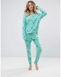 Chelsea Peers - Flying Penguin Christmas Long Pyjamas - Lyst