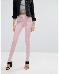 Replay - Touch Super High Rise Skinny Jeans - Lyst