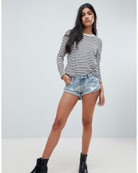 One Teaspoon - Bandits Distressed Denim Shorts - Lyst