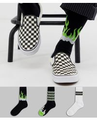 ASOS - Sports Socks With Neon Flames 3 Pack - Lyst