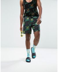 ASOS - X Mtv With Neon Print & Side Tape Detail In Mid Length - Lyst