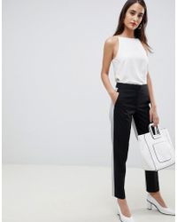 French Connection - Color Block Tailored Pants - Lyst