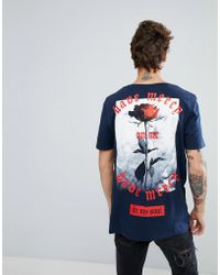 ASOS - Relaxed T-shirt With Rose Back Print - Lyst