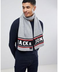 Jack & Jones - Brand Slogan Scarf - Lyst