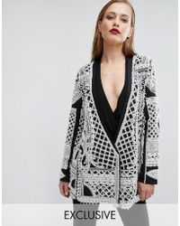 A Star Is Born - Embellished Tuxedo Jacket - Lyst