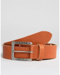 Hilfiger Denim - Tommy Thd Leather Belt Brown - Lyst