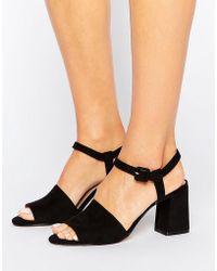 Mango - Flared Heel Sandal - Lyst