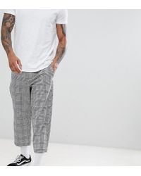 Reclaimed (vintage) - Inspired Relaxed Crop Pants In Check - Lyst