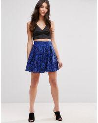 Girls On Film - Lace Skater Skirt - Lyst