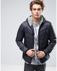Globe - Padded Jacket With Hood - Lyst