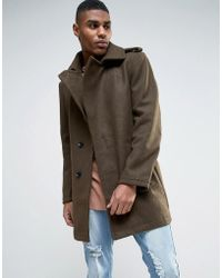 Criminal Damage - Wool Blend Belted Coat - Lyst