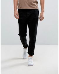 Casual Friday - Tapered Cropped Jeans In Black - Lyst