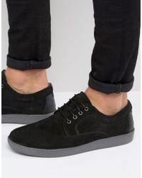 Red Tape - Suede Sneakers In Black - Lyst