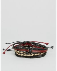 ALDO - Braided Bracelets In 4 Pack - Lyst