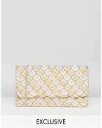 Amelia Rose - Scallop Embellished Clutch Bag - Lyst