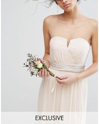 TFNC London - Wedding Embellished Tonal Delicate Sash Belt - Lyst