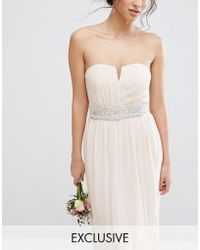 TFNC London | Wedding Wide Sash Belt With Pretty Embellishment | Lyst