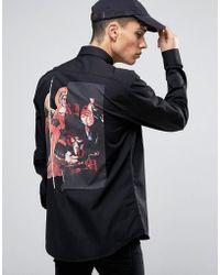 SYSTVM - Angel Back Print Shirt - Lyst