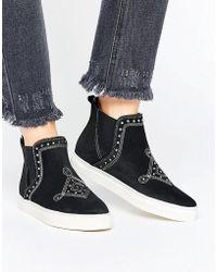 Vero Moda - Stud Hitop Sneaker - Lyst