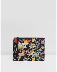 New Look - Dove Embroidered Clutch Bag - Lyst