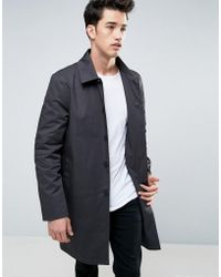 New Look - Single Breasted Trench In Charcoal - Lyst