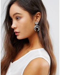 House of Harlow 1960 - Double Crescent Hook Drop Earrings - Lyst