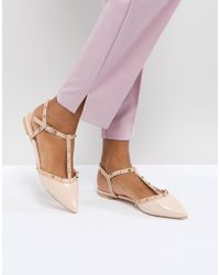 Dune - London Cayote Flat Studded Shoe - Lyst