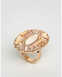 New Look - Oval Ornate Ring - Lyst