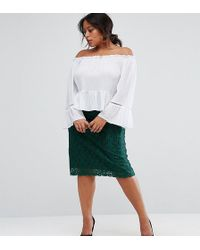 Madam Rage - Lace Pencil Midi Skirt - Lyst