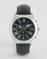 Racing Green - Black Watch With Imitation Inner Dials - Lyst